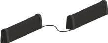 2 fertige Kontaktleisten mit einem Kabel verbunden